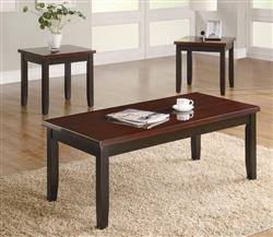 3 Piece Occasional Table Set in Two Tone Finish by Coaster - 701565