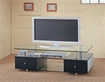 Glass TV Stand by Coaster - 720081