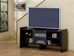 Cappuccino Finish Glass Doors TV Stand by Coaster - 720150