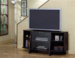 Cappuccino Finish Glass Doors TV Stand by Coaster - 720151