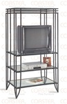 "Black ""Matrix"" Design T.V. Rack by Coaster - 7455"