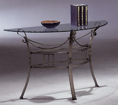 Glass top and metal base occasional sofa table by coaster for Glass top occasional tables