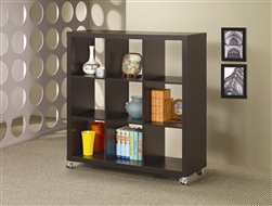 3 x 3 Bookcase in Cappuccino Finish by Coaster - 800085