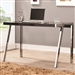 Clayton Desk in Black and Nickel Finish by Coaster - 800105