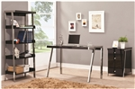 Clayton 3 Piece Home Office Set in Black and Nickel Finish by Coaster - 800105-S