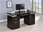 Computer Desk in Cappuccino Finish by Coaster - 800107