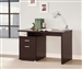 Reversible Writing Desk with File Drawer in Cappuccino Finish by Coaster - 800109