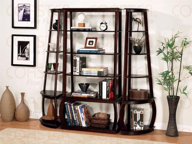 3 Piece Bookcase In Cappuccino Finish By Coaster