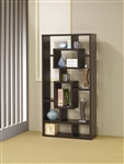 Wall Unit Bookcase in Cappuccino Finish by Coaster - 800259
