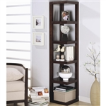 Corner Bookcase in Cappuccino Finish by Coaster - 800268