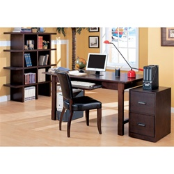 4 Piece Home Office Set in Wood Grain Finish by Coaster - 800271S
