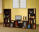 3 Piece Bookcase Wall in Dark Oak Finish by Coaster - 800276