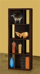 Versatile Bookcase in Dark Oak Finish by Coaster - 800276B