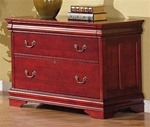 Louis Philippe Home Office File Cabinet in Deep Rich Cherry Finish by Coaster - 800294