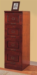 4 Drawer File Cabinet in Cherry Finish by Coaster - 800314