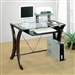 Division Table Desk with Glass Top by Coaster - 800445