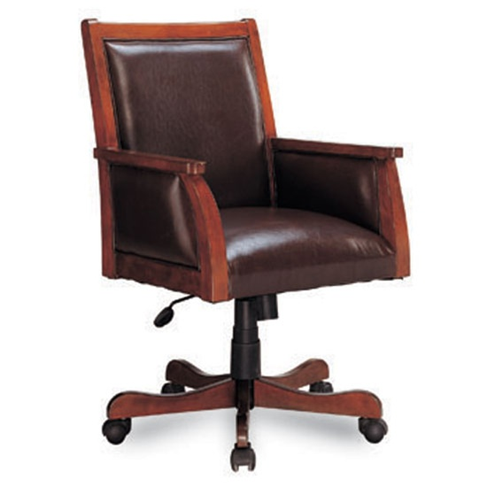deep brown leather home office executive chair by coaster 800472