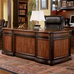 Two-Toned Grand Style Home Office Desk by Coaster - 800511