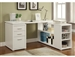 Yvette L Shaped Desk in White Finish by Coaster - 800516