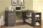 Yvette L Shaped Desk in Weathered Grey Finish by Coaster - 800518