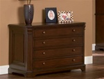 Home Office File Cabinet in Rich Dark Finish by Coaster - 800565