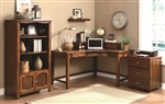 Jacqueline 3 Piece Home Office Set in Walnut Finish by Coaster - 800594-S