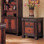 Home Office File Cabinet in Dark Two Tone Finish by Coaster - 800694