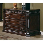 Traditional Home Office File Cabinet in Rich Brown Finish by Coaster - 800802