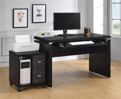 2 Piece Home Office Set in Black Finish by Coaster - 800821