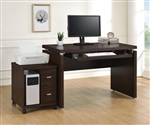 2 Piece Home Office Set in Oak Finish by Coaster - 800831