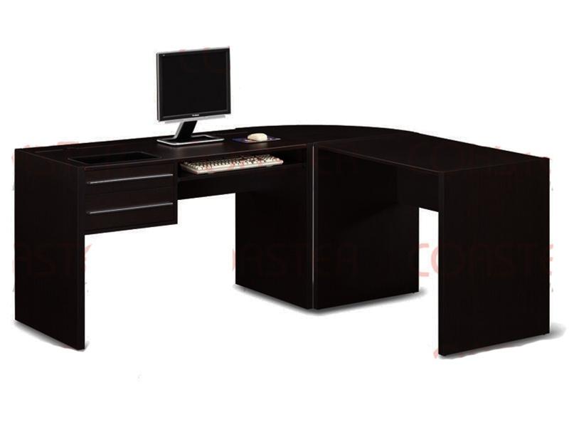 3 Piece Desk in Cappuccino Finish by Coaster - 800991