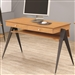 Lori Computer Desk in Light Brown Pecan Finish by Coaster - 801051