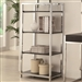 Morris Black and Chrome Bookcase by Coaster - 801113