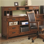 Maclay Computer Credenza in Red Brown Finish by Coaster - 801202