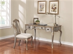 2 Piece Home Office Set in Gold Brushed Metallic Silver Finish by Coaster - 801681