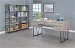 Analiese Writing Desk in Grey Driftwood Finish by Coaster - 801999