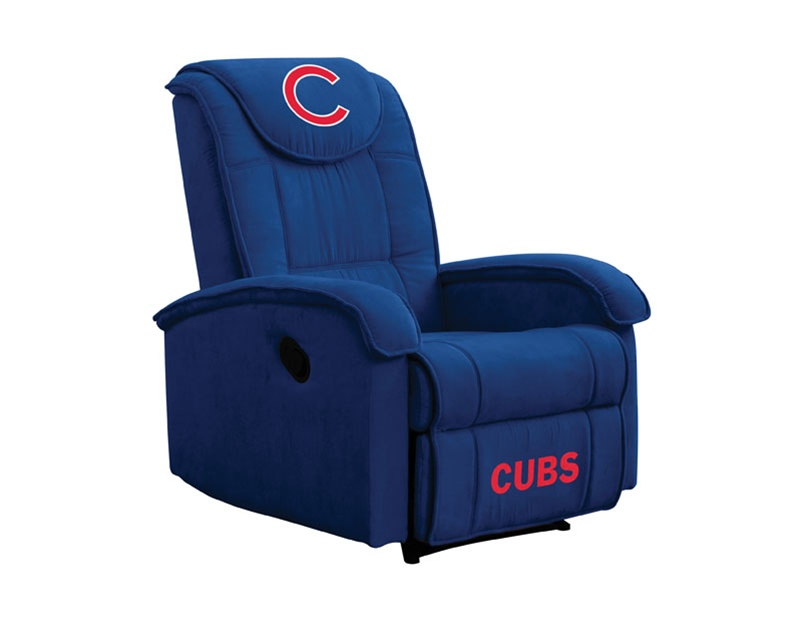 sc 1 st  Home Cinema Center & MLB Chicago CUBS Recliner by Coaster - 891CUBS islam-shia.org