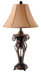 Set of Two Leaf Accent Table Lamps by Coaster - 900197