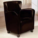 Brown Vinyl Upholstered High Back Chair by Coaster - 900234