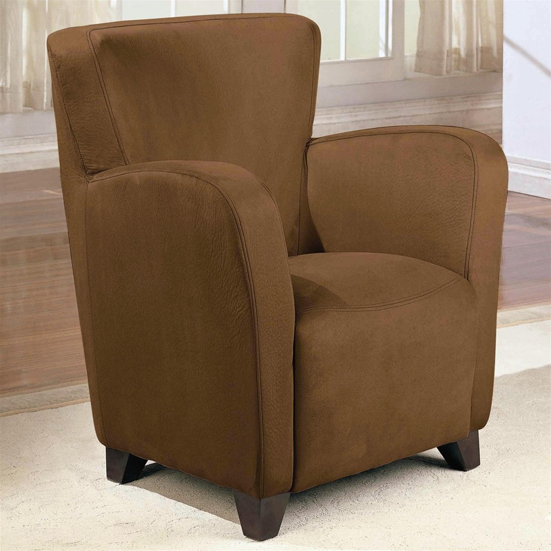 brown vinyl upholstered high back chair by coaster 900234. Black Bedroom Furniture Sets. Home Design Ideas