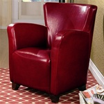 Red Vinyl Upholstered High Back Chair by Coaster - 900235