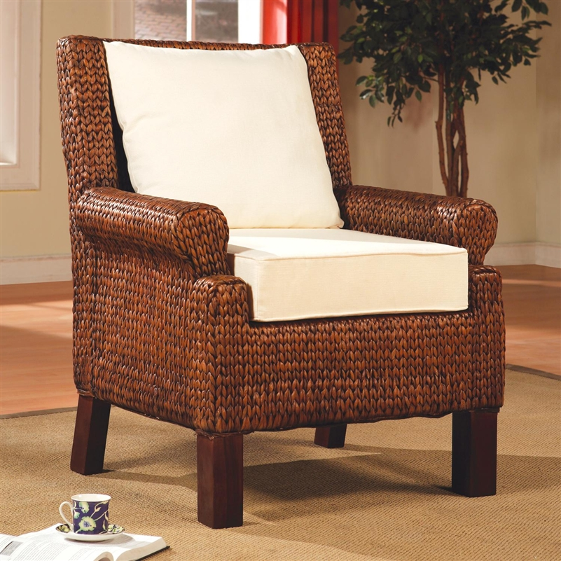 Banana Leaf Woven Accent Chair By Coaster 900281