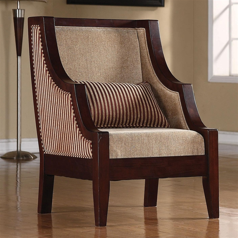 Striped Accent Chair By Coaster