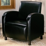 Dark Brown Vinyl Upholstered Arm Chair by Coaster - 900334