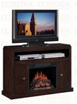 Media Mantel Electric Fireplace in Espresso Finish by Coaster - 900342