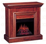 Decorative Electric Fireplace Wall Mantel in Cherry Finish by Coaster - 900351