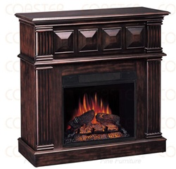 Decorative Electric Fireplace Wall Mantel In Rich Cappuccino Finish By Coaste
