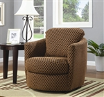 Diamond Pattern Fabric Swivel Accent Chair by Coaster - 900405