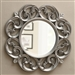 Silver Fleur-de-lis Ornate Round Wall Mirror by Coaster - 900699