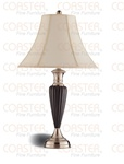 Set of Two Cappuccino/Nickel Table Lamps by Coaster - 900736
